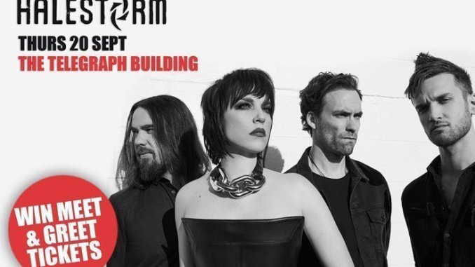 WIN: Meet & Greet Tickets for HALESTORM @ The Telegraph Building, Belfast Thurs 20th Sept 2018 1