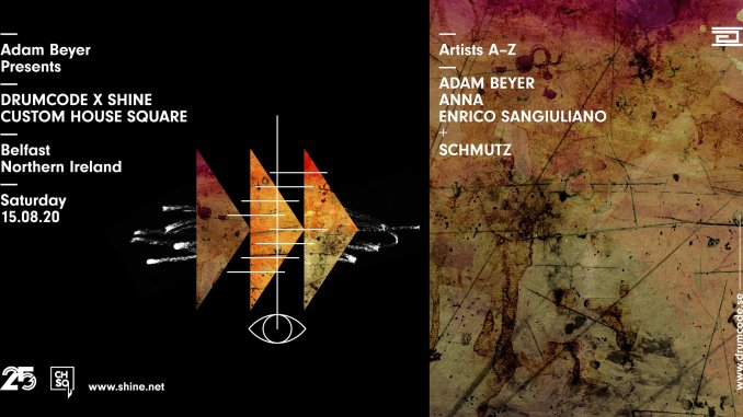 DRUMCODE founder ADAM BEYER to headline Custom House Square on Saturday 15th August
