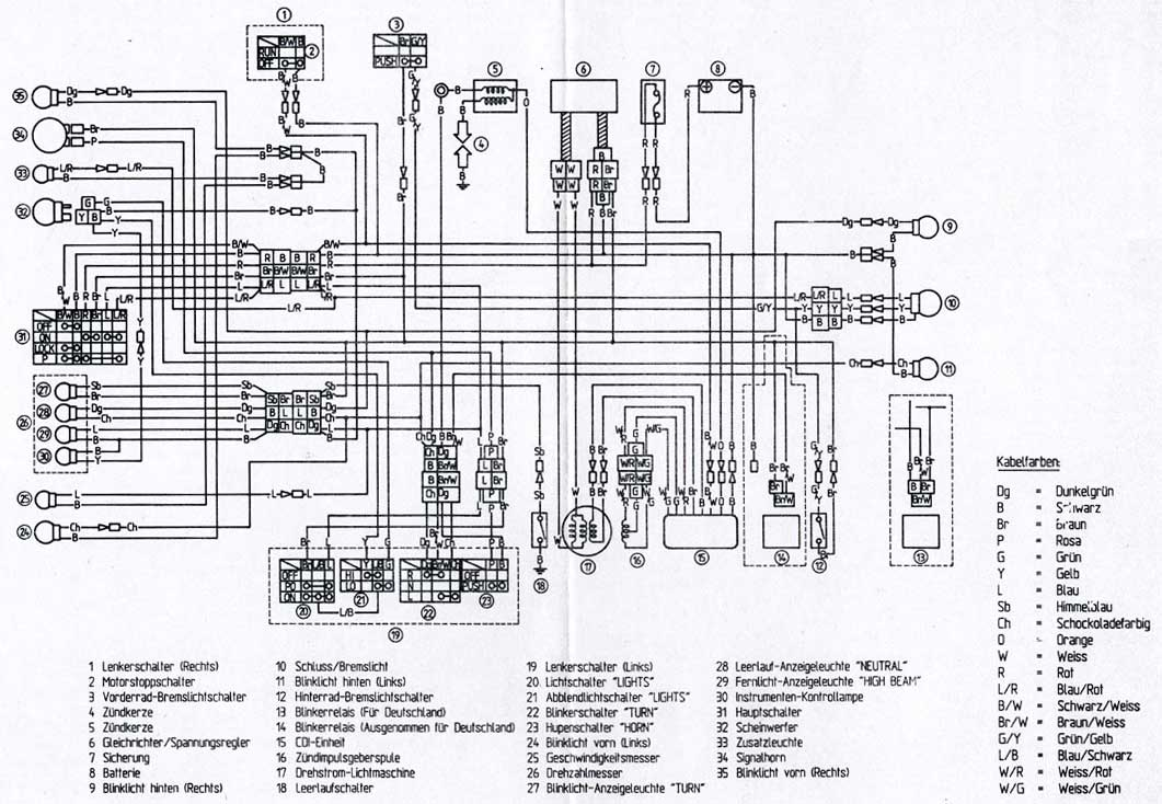 1984 yamaha tt600 wiring diagram