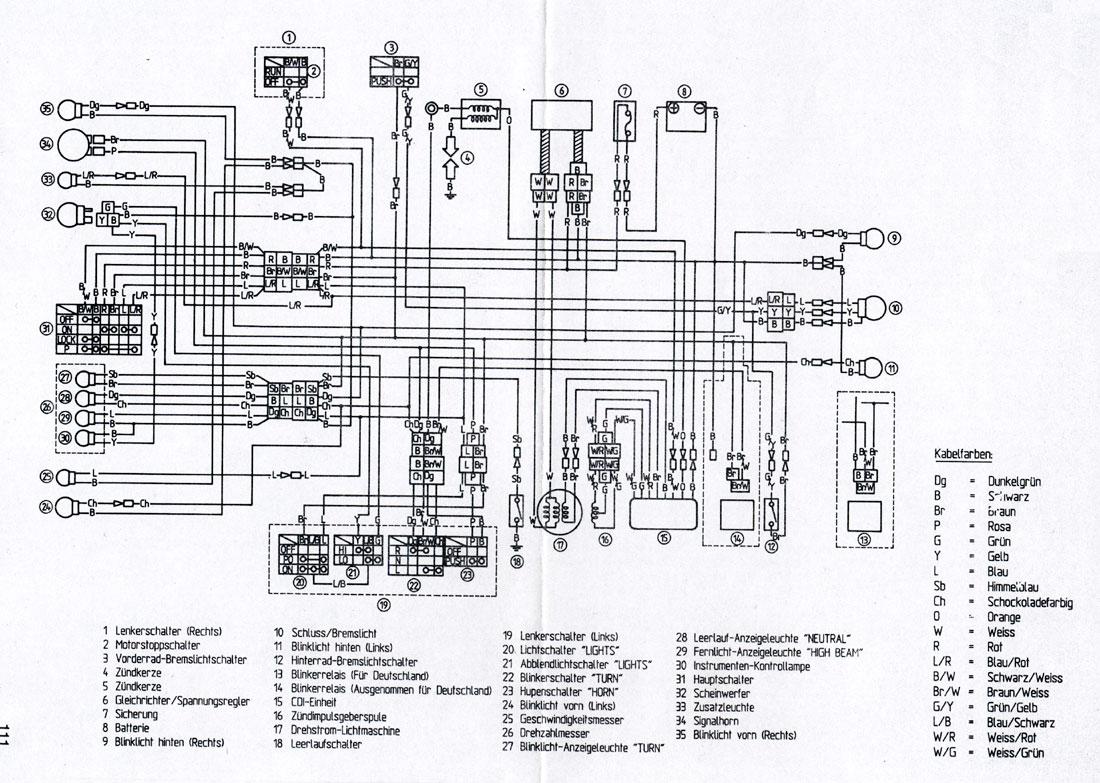 1983 yamaha xt 600 wiring diagram