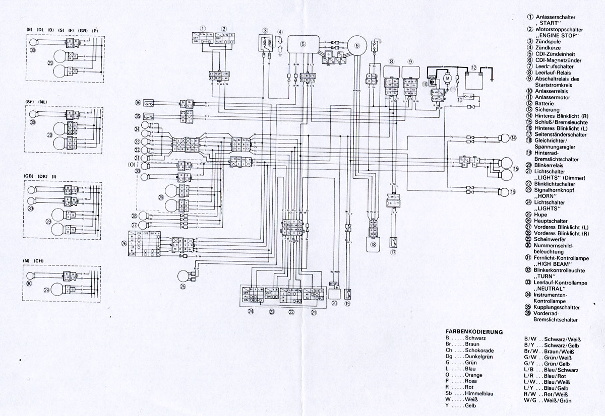 Wire Diagram Wiring Schematic Www Xt600 De