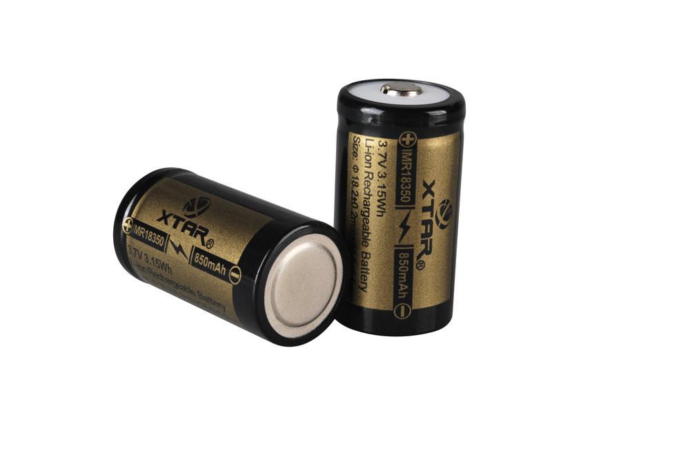 18350 850mAh IMR Battery (Unprotected)