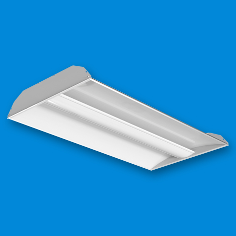 ART LED - Architectural Recessed Troffer 2x4 Curved Center Lens