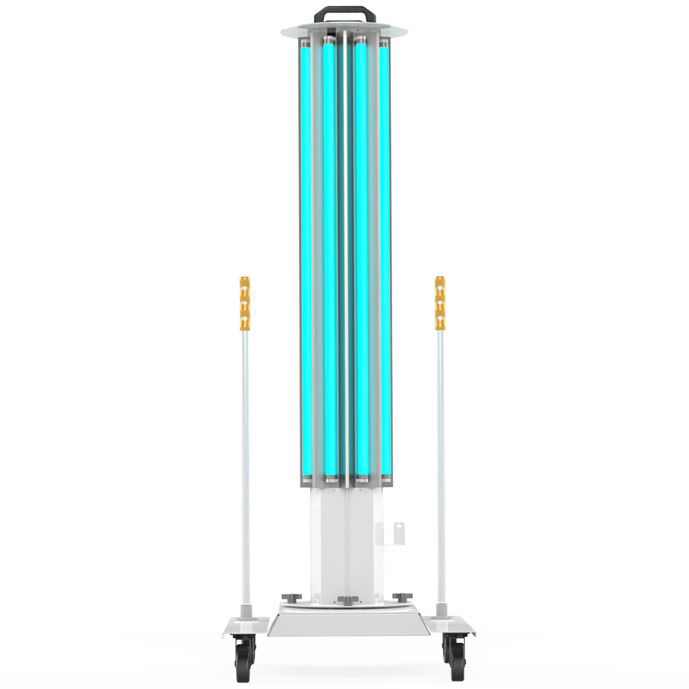 UVC Mobile Disinfection System Front View XtraLight Manufacturing, LTD.