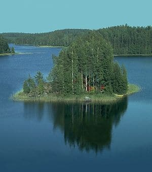 "A summer cottage (""mökki"") on a lake..."