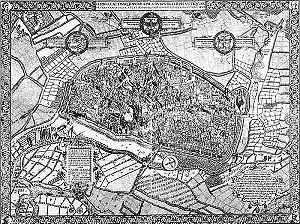 Map of Duisburg, 1566.
