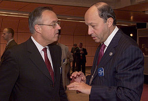 German Finance Minister Hans Eichel and French...