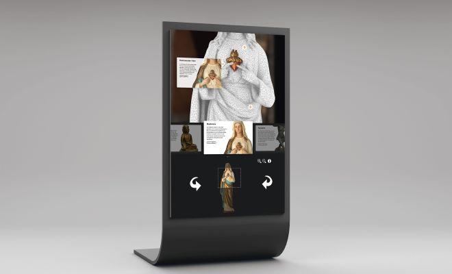 Moderne Ausstellungserweiterung mit einem interaktiven Informationsmodul