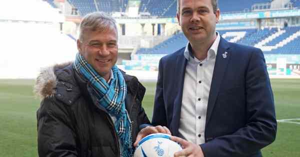 MSV-Geschäftsführer Peter Mohnhaupt (rechts) und der neue MSV-Trainer Thomas Gerstner