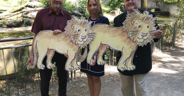 v.l.n.r. Rainer Bischoff (Vorsitzender SSB Duisburg), Astrid Stewin (Vorstandsvorsitzende Zoo Duisburg) und Lutz Stermann (Präsident Lions-Club Duisburg-Mercator)