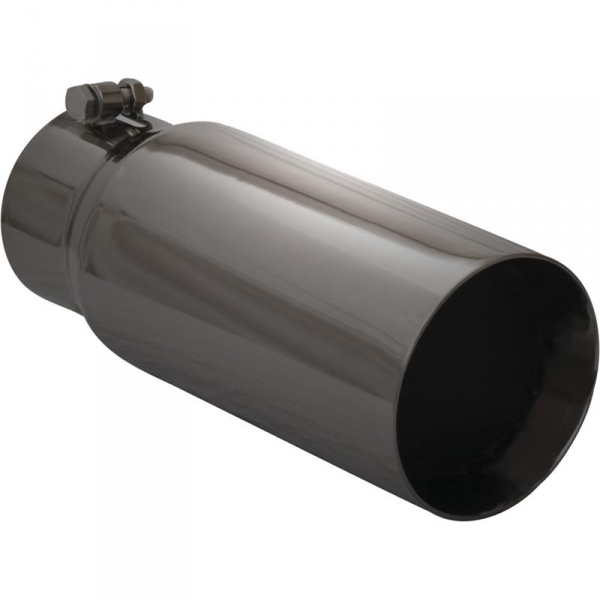 silverline black stainless straight cut exhaust tip