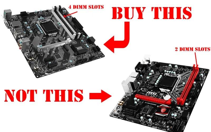 4 Dimm Slots Vs 2 Dimm Slots Micro Atx Motherboard