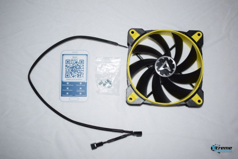Arctic BioniX F120 gaming fan unboxing