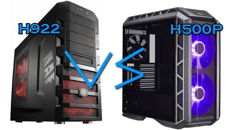 Cooler Master H500p vs Cooler Master H922