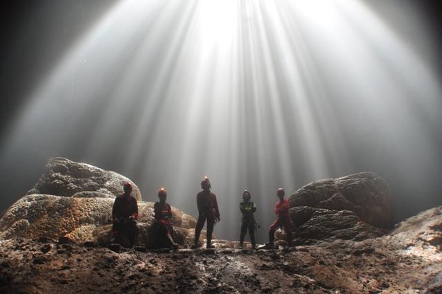 Caving Spelunking Jomblang Cave Yogyakarta Indonesia