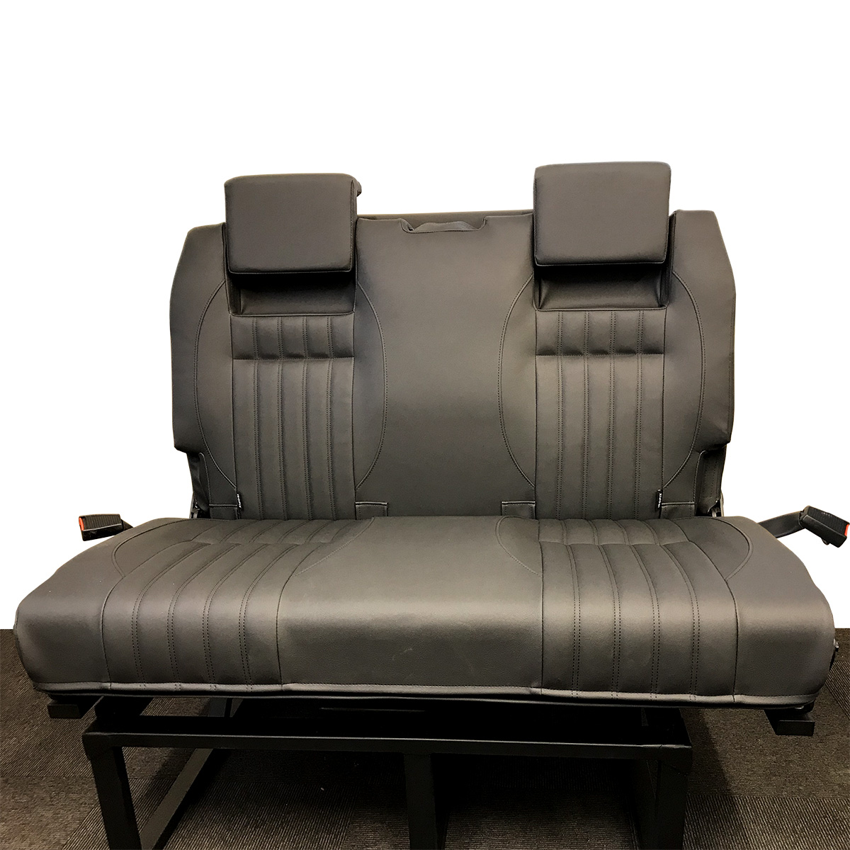 sofa upholsterers leicester costco reclining reviews 2 single front seats with arm and head rests a 3 4