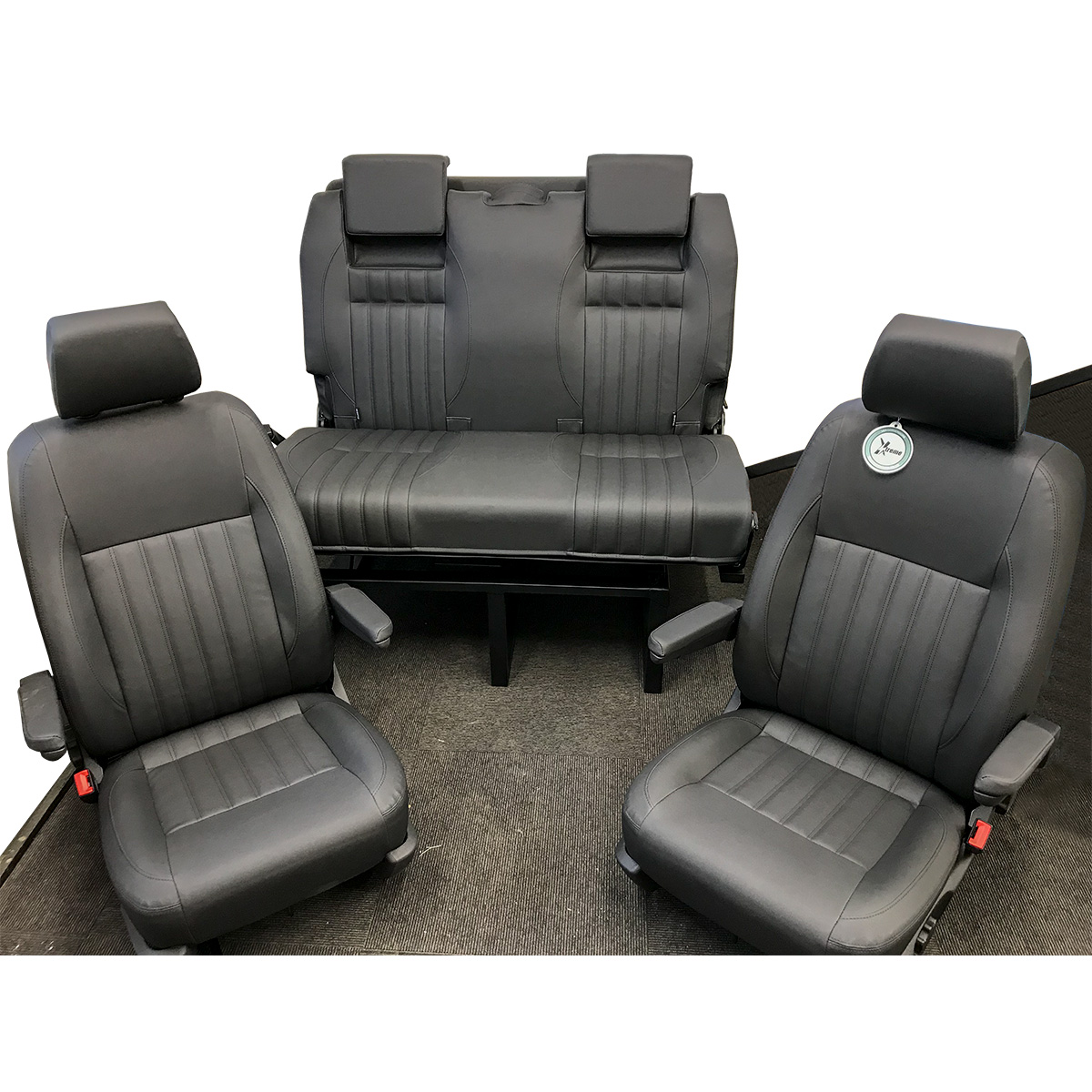 sofa upholsterers leicester pet protector for sectional 2 single front seats with arm and head rests a 3 4