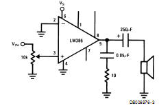 Project circuit power audio amplifier lm386 or lm386n