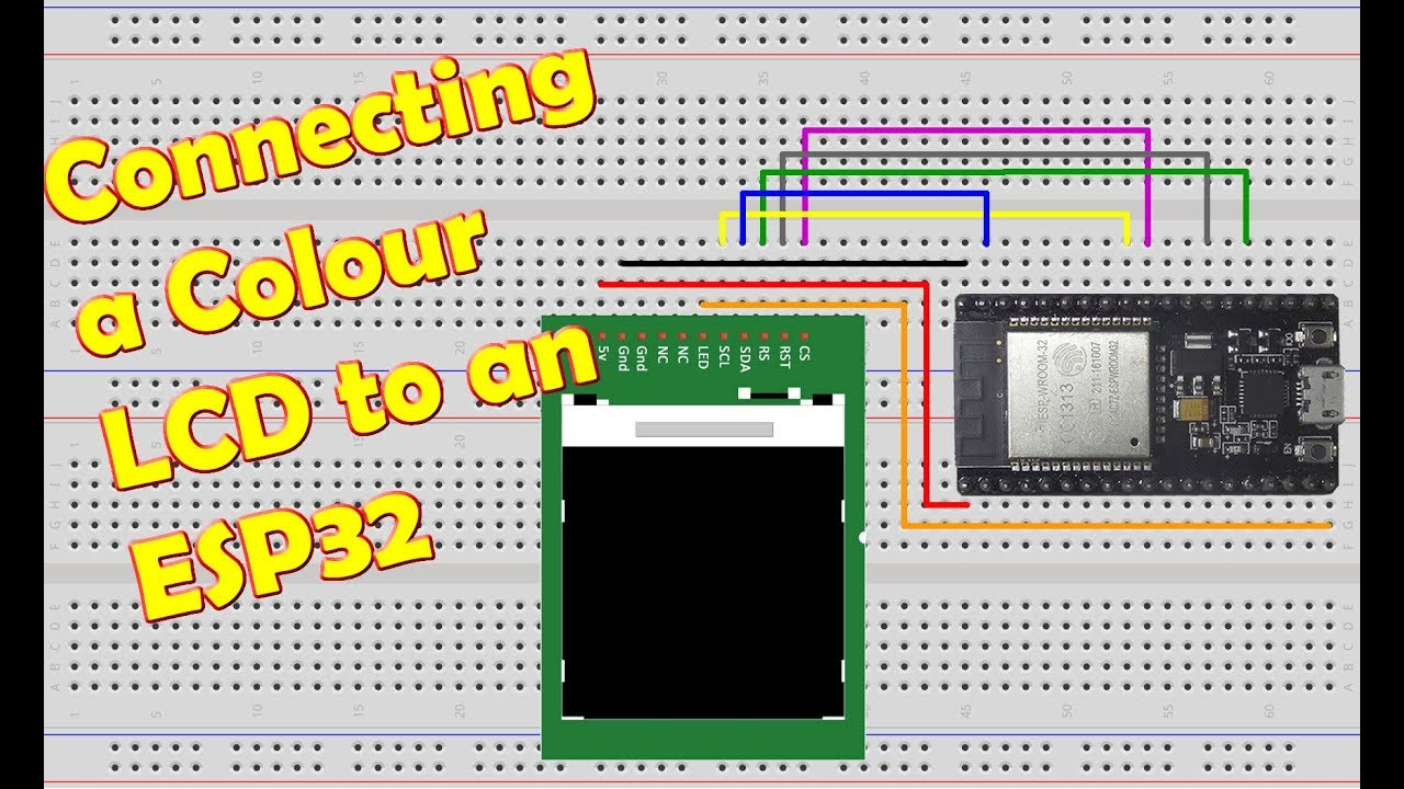 128x128 Colour LCD to ESP32 - XTronical