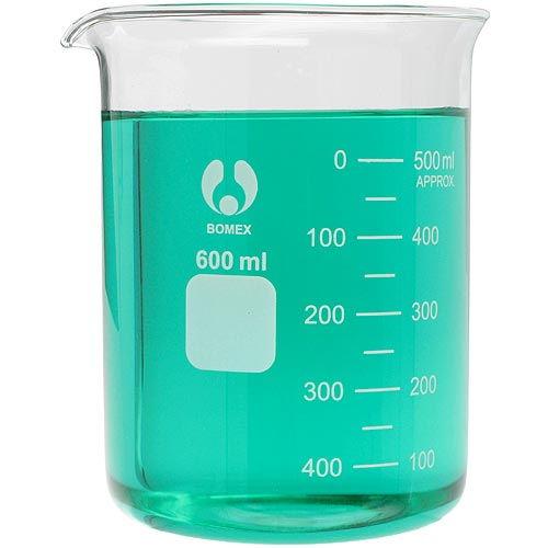 glass beaker 600ml by
