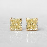 Graff Diamonds 18k Yellow Gold 2.66ct Yellow Diamond Stud