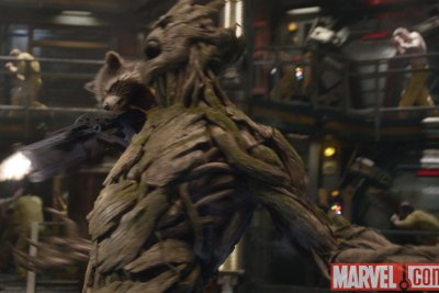 Rocket and Groot let loose in Marvel's Guardians of the Galaxy