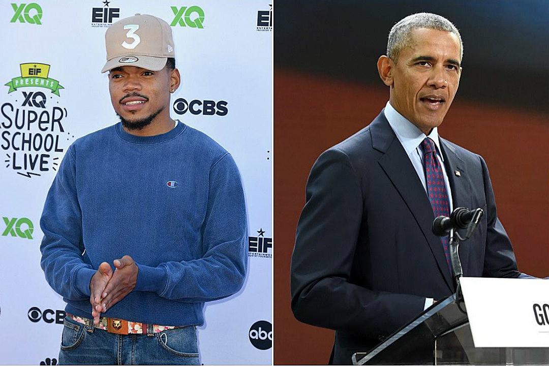 Image result for Chance The Rapper Joins Barack Obama