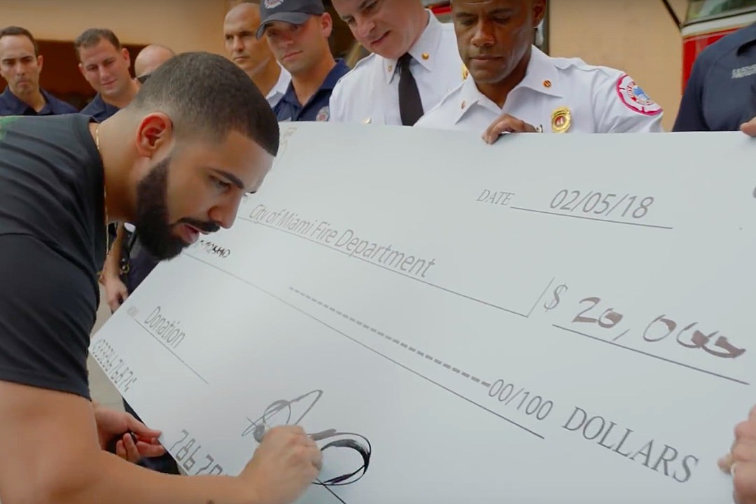 "Image result for DRAKE GIVES AWAY NEARLY $1 MILLION WHILE FILMING HIS NEW ""GOD'S PLAN"" VIDEO"