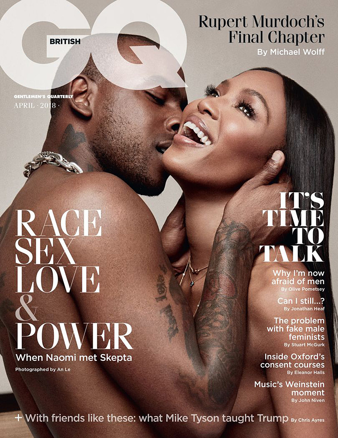 Image result for SKEPTA GETS CLOSE WITH NAOMI CAMPBELL FOR STEAMY GQ COVER SHOOT