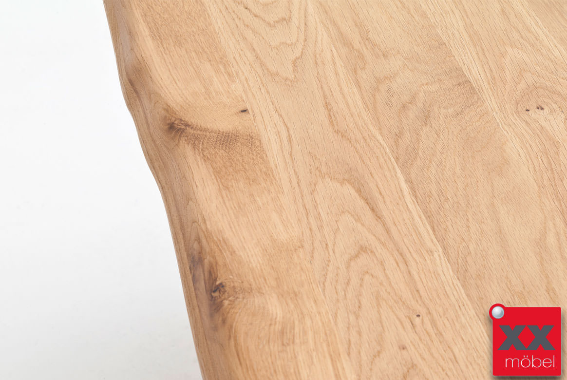 Esstisch Massivholz  Greta  Holz Eiche Baumkante  KB