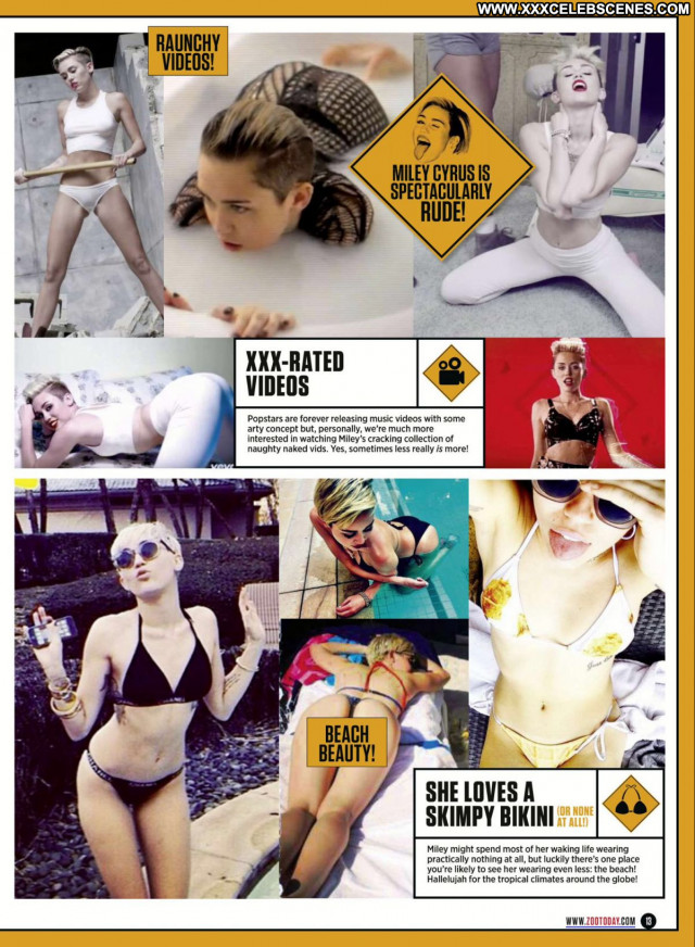 Miley Cyrus Zoo Magazine Sexy Babe Posing Hot Beautiful Celebrity