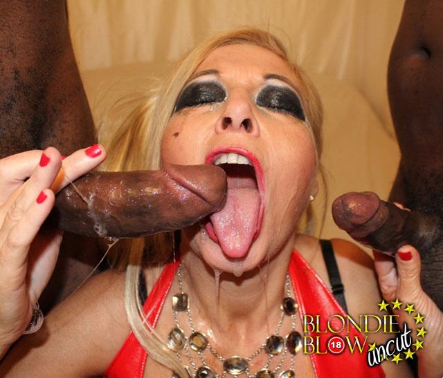 Blonde Mature Cum Swallow