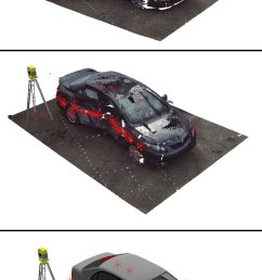 using photographs of an actual car accident a 3d digital reconstruction of the damaged vehicle [ 1056 x 1932 Pixel ]