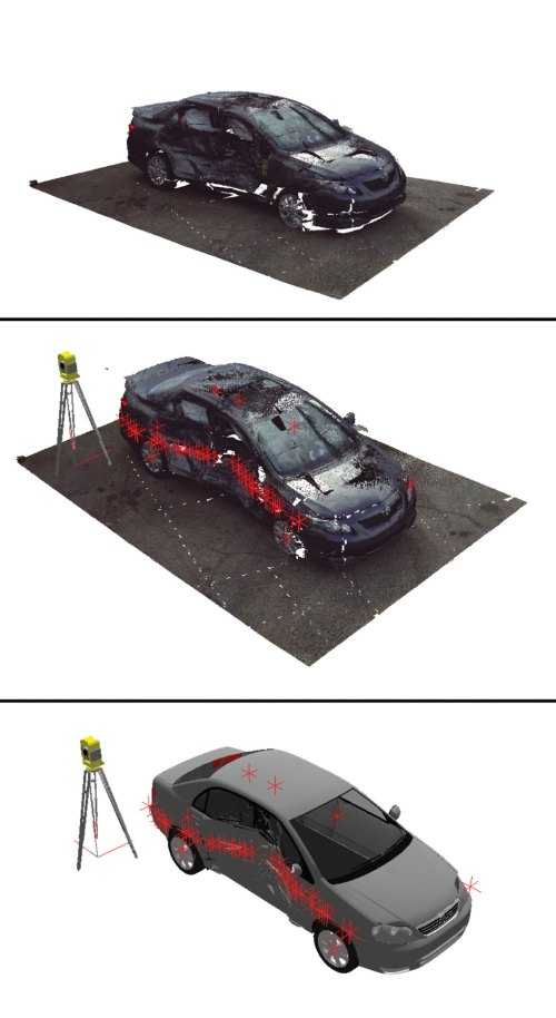 small resolution of using photographs of an actual car accident a 3d digital reconstruction of the damaged vehicle