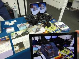 """Severn Partnership's """"Seeable"""" visualisation tools were demonstrated on a VR Occulus Rift headeset"""