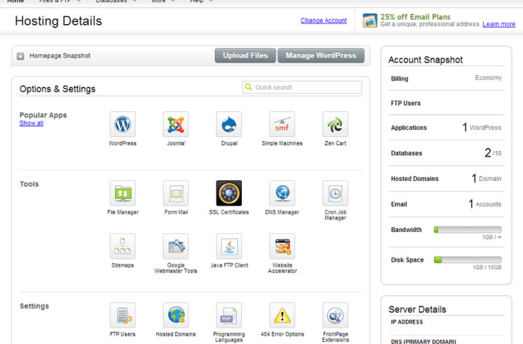 how to go to cpanel of website