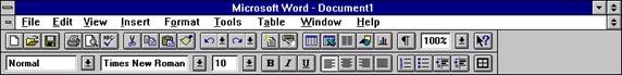 Yaacov Apelbaum - Word 6.0 ribbon