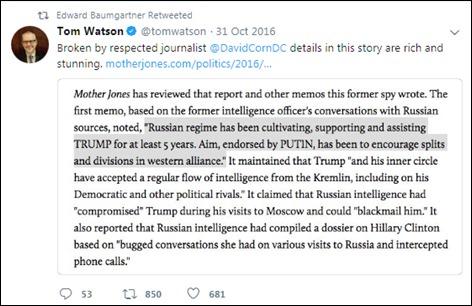 Baumgartner pimping the dossier