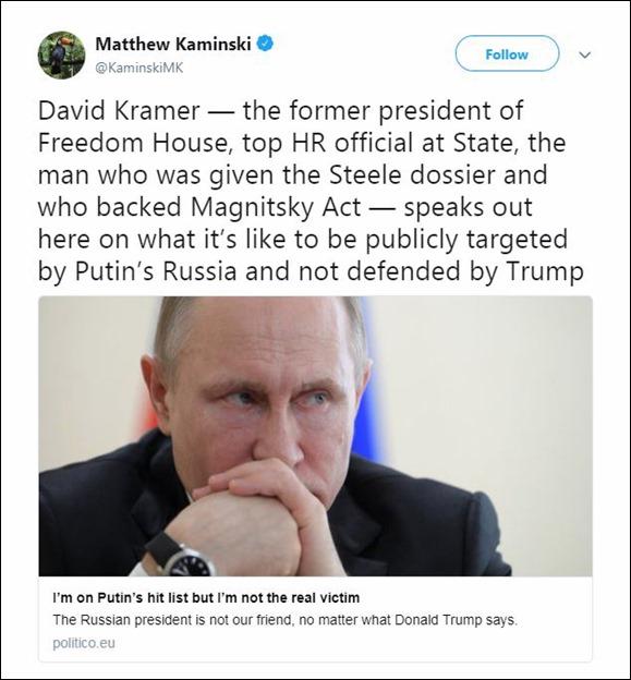 Matthew Kaminski Politico Anti-Trump