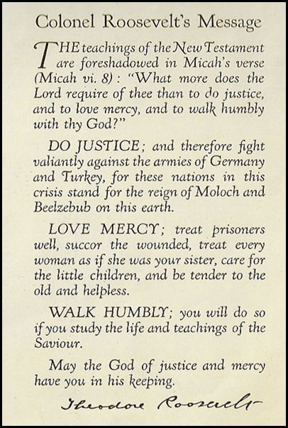 Theodore Roosevelt Bible Preface