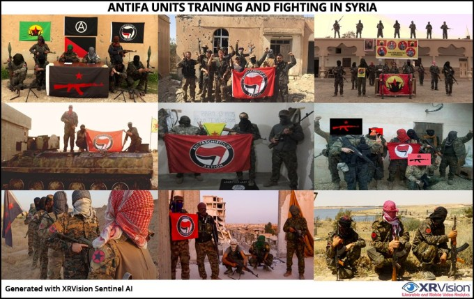 Antifa units training and fighting in Syria