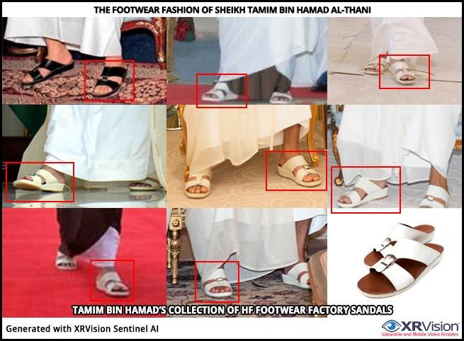 The footwear fashion of SheikTamim Bin Hamad Al-Thani