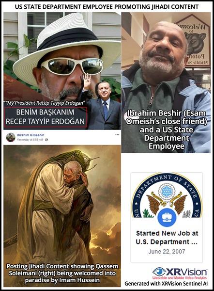 Ibrahim Beshir State Department Employee and Friend of Esam Omeish