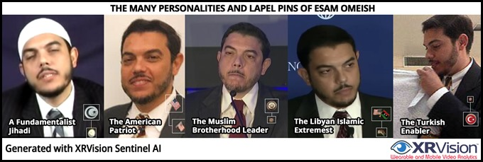 The Many Lapel Pins of Esam Omeish