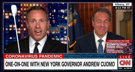 Cuomo brothers delivering the Covie-19 jokes on CNN