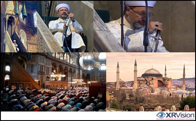 Hagia Sophia turned into a mosque