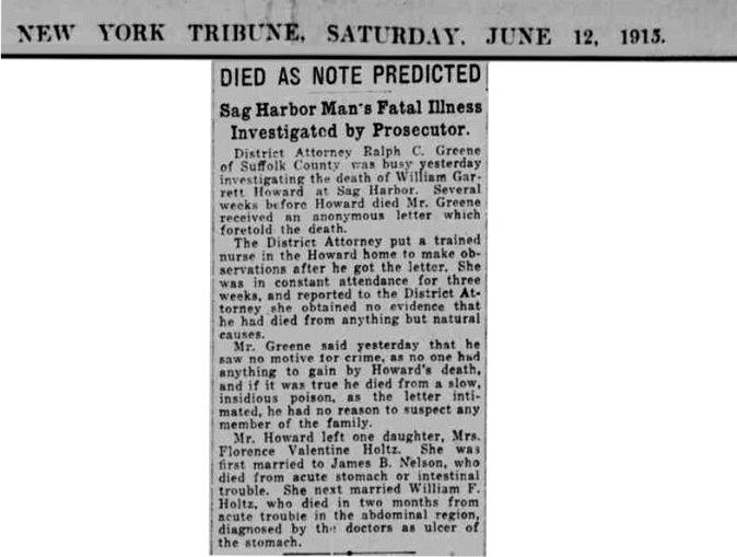 A19  6-12-1915 Dies as Note Predicted