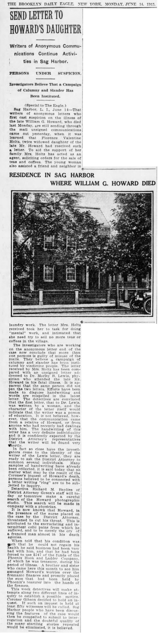 A25  6-14-1915 The Brooklyn Daily Eagle Monday  Report