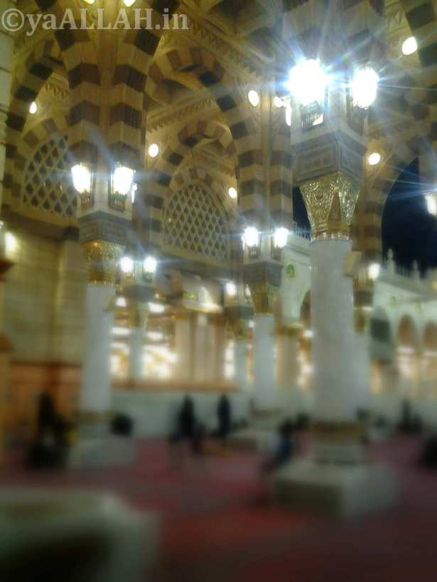 Masjid Nabawi Wallpaper At Night_yaALLAH.in_6