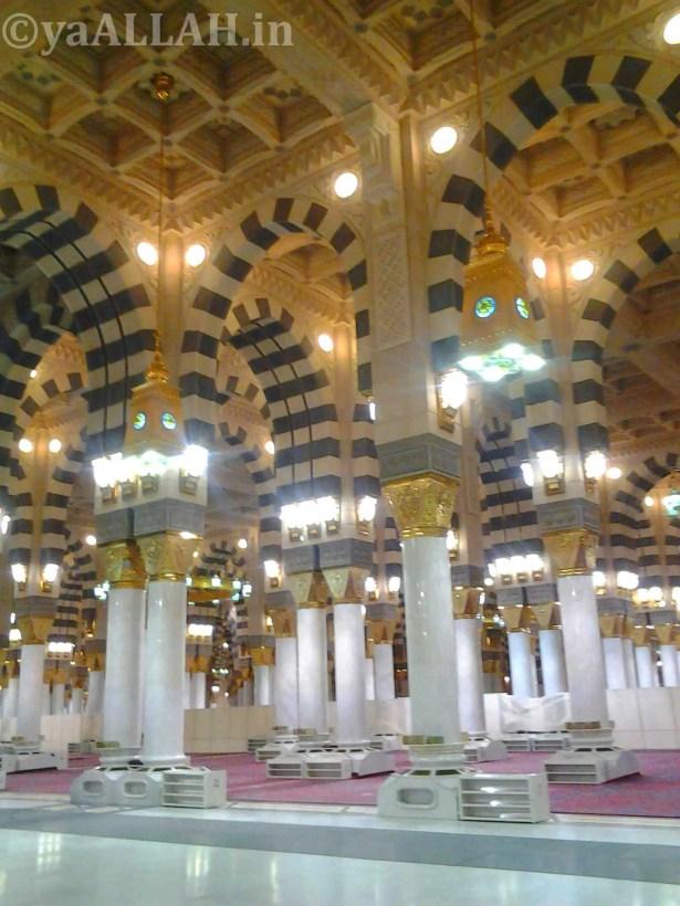 Masjid Nabawi Wallpaper At Night_yaALLAH.in_7